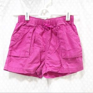 TEA // Girls pink cargo shorts